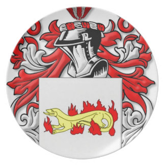 Escudo de armas de Slabaugh Platos Para Fiestas