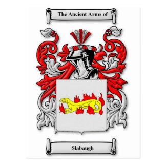 Escudo de armas de Slabaugh Postales