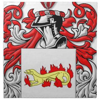 Escudo de armas de Slabaugh Servilletas