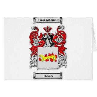 Escudo de armas de Slabaugh Tarjeta De Felicitación