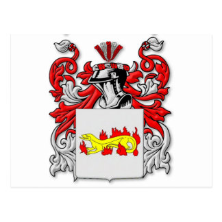 Escudo de armas de Slabaugh Tarjeta Postal