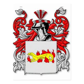 Escudo de armas de Slabaugh Tarjetas Postales