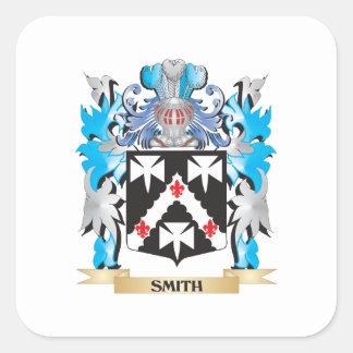 Escudo de armas de Smith - escudo de la familia Pegatina Cuadrada