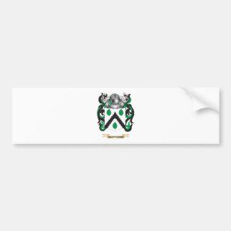 Escudo de armas de Smithson escudo de la familia Etiqueta De Parachoque