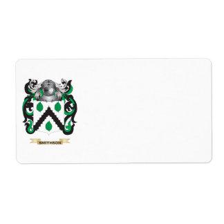 Escudo de armas de Smithson escudo de la familia Etiquetas De Envío