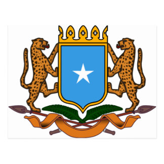 Escudo de armas de Somalia Tarjetas Postales