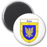 Escudo de armas de Soto/escudo de la familia Imán De Frigorífico