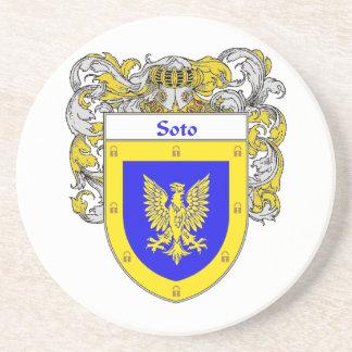 Escudo de armas de Soto/escudo de la familia Posavasos Manualidades
