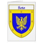 Escudo de armas de Soto/escudo de la familia Tarjetón