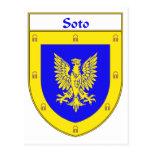 Escudo de armas de Soto/escudo de la familia Tarjetas Postales