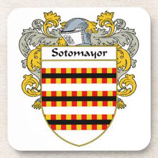 Escudo de armas de Sotomayor/escudo de la familia Posavasos De Bebida