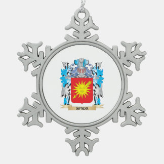 Escudo de armas de Spada - escudo de la familia Adorno De Peltre En Forma De Copo De Nieve