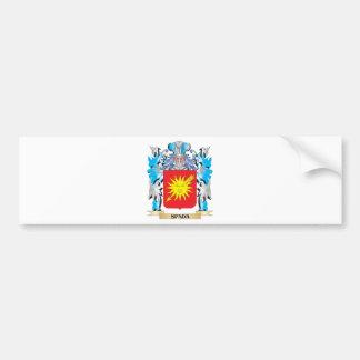 Escudo de armas de Spada - escudo de la familia Pegatina Para Auto