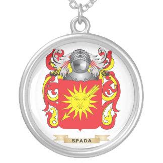 Escudo de armas de Spada (escudo de la familia) Colgante Redondo