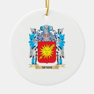 Escudo de armas de Spada - escudo de la familia Adorno Redondo De Cerámica