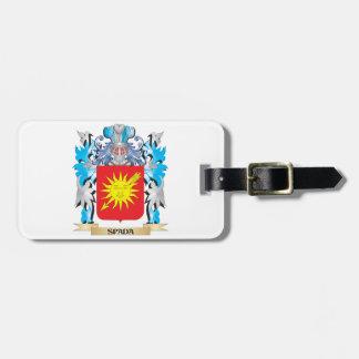 Escudo de armas de Spada - escudo de la familia Etiquetas Maleta
