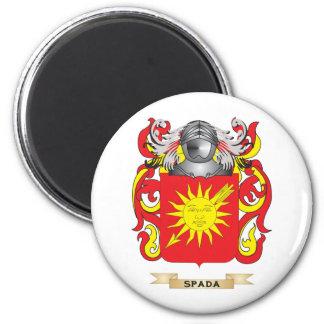 Escudo de armas de Spada (escudo de la familia) Imán Redondo 5 Cm