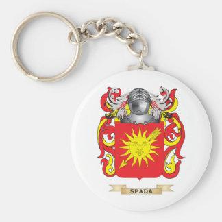 Escudo de armas de Spada (escudo de la familia) Llavero Redondo Tipo Pin
