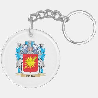 Escudo de armas de Spada - escudo de la familia Llavero Redondo Acrílico A Doble Cara
