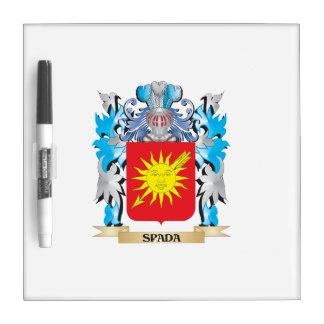 Escudo de armas de Spada - escudo de la familia Pizarra Blanca