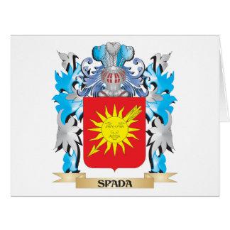 Escudo de armas de Spada - escudo de la familia Tarjeta De Felicitación Grande