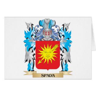 Escudo de armas de Spada - escudo de la familia Tarjeta De Felicitación
