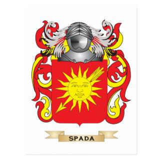 Escudo de armas de Spada (escudo de la familia) Postales