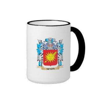 Escudo de armas de Spada - escudo de la familia Taza A Dos Colores