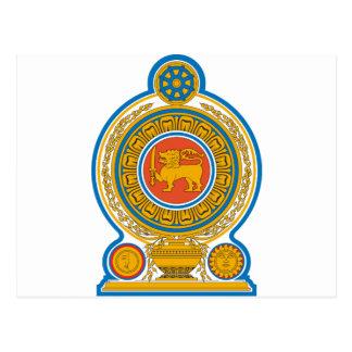 Escudo de armas de Sri Lanka Postal