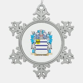 Escudo de armas de Stamford - escudo de la familia Adorno De Peltre En Forma De Copo De Nieve