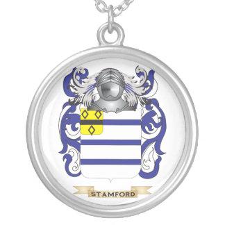 Escudo de armas de Stamford (escudo de la familia) Colgante Redondo