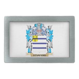 Escudo de armas de Stamford - escudo de la familia Hebilla Cinturon Rectangular