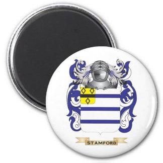 Escudo de armas de Stamford (escudo de la familia) Imán Redondo 5 Cm