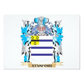 """Escudo de armas de Stamford - escudo de la familia Invitación 5"""" X 7"""""""