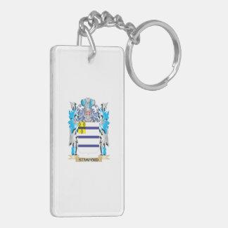 Escudo de armas de Stamford - escudo de la familia Llavero Rectangular Acrílico A Doble Cara
