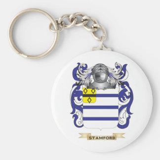 Escudo de armas de Stamford (escudo de la familia) Llavero Redondo Tipo Pin