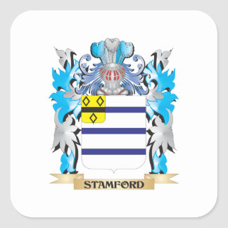 Escudo de armas de Stamford - escudo de la familia Pegatina Cuadrada