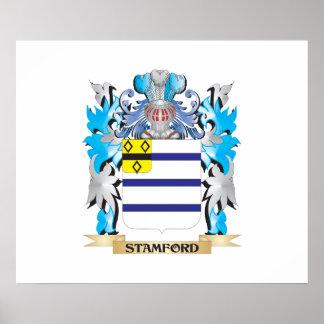 Escudo de armas de Stamford - escudo de la familia Póster
