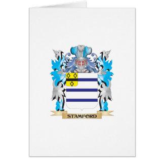 Escudo de armas de Stamford - escudo de la familia Tarjeta De Felicitación
