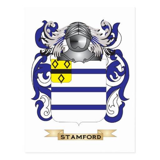 Escudo de armas de Stamford (escudo de la familia) Postales