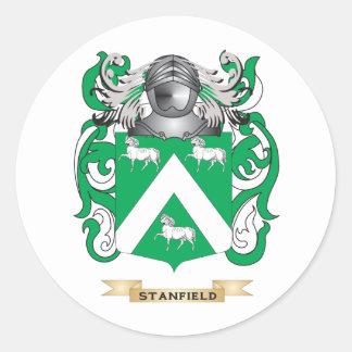 Escudo de armas de Stanfield (escudo de la Pegatina Redonda
