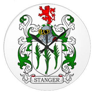 Escudo de armas de Stanger Reloj De Pared