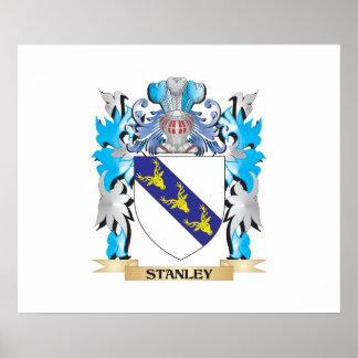 Escudo de armas de Stanley - escudo de la familia Póster