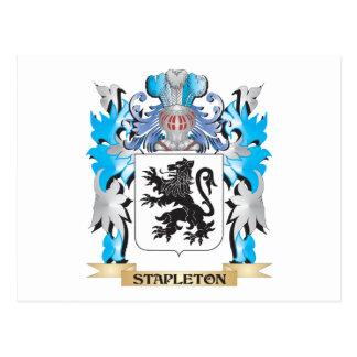 Escudo de armas de Stapleton - escudo de la Postal