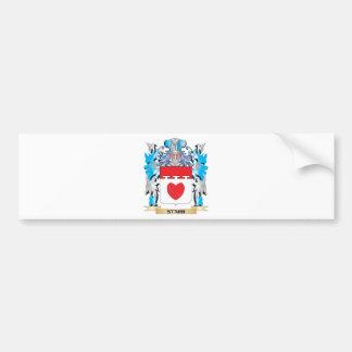 Escudo de armas de Starr - escudo de la familia Pegatina Para Coche