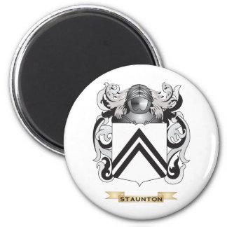 Escudo de armas de Staunton (escudo de la familia) Imán Redondo 5 Cm