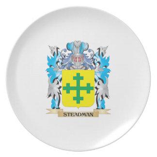 Escudo de armas de Steadman - escudo de la familia Plato