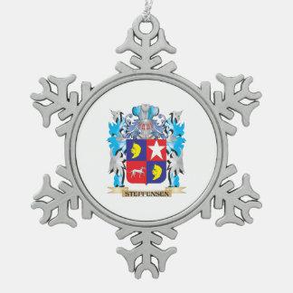 Escudo de armas de Steffensen - escudo de la Adorno De Peltre En Forma De Copo De Nieve
