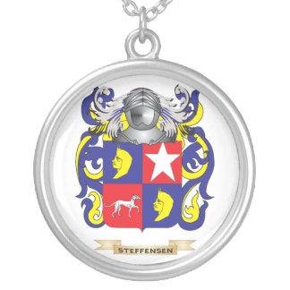 Escudo de armas de Steffensen (escudo de la famili Colgante Redondo