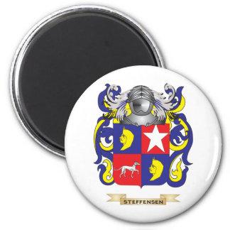 Escudo de armas de Steffensen (escudo de la famili Imán Redondo 5 Cm